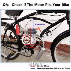 100CC Bike Engine Bicycle Motor Kit 2Stroke Gas Motorized Bike Modified FULL Set