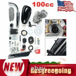 100cc 2-Stroke Bike Cycling Petrol Motorized Bicycle Engine Motor Kit Full Set