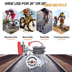 100cc 2-Stroke Engine Motor Kit for Motorized Bicycle Bike Gas Powered Sliver