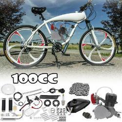 100cc Bicycle Motor Kit Bike Motorized 2 Stroke Petrol Gas Engine Set Black US