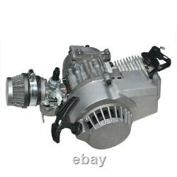 2 Stroke 43cc 49cc Engine Motor Kit + Muffler + Gas Tank for Mini Bike Dirt Bike
