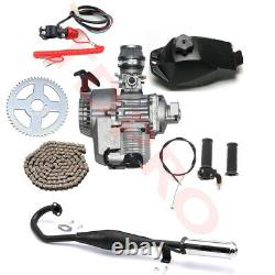 2 Stroke 47 49cc Engine Motor Full Kit Scooter Pit Bike Quad ATV Go Kart Pocket