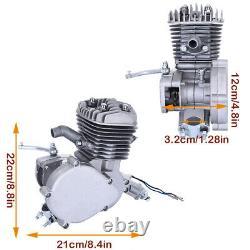 2 Stroke 80cc Bike Cycling Bicycle Motorized Engine Motor Kit Muffler Petrol USA