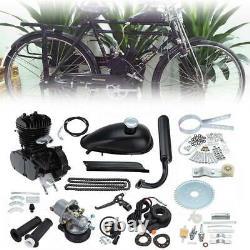 2 Stroke 80cc Cycle Bike Motorised Gas Engine Black Motor kit Bicycle