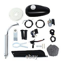 2-Stroke 80cc Gas Petrol Motor Engine Kit For Motorized Bicycle Bike Silver Pipe