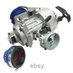 2 Stroke HP Racing Engine Motor Kit 49cc 47cc 50cc Pocket/Quad/Dirt Bike + Chain