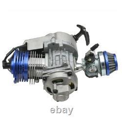 2-Stroke Racing Engine 49cc Mini Pocket Minimoto ATV Dirt Bike Chain Throttle