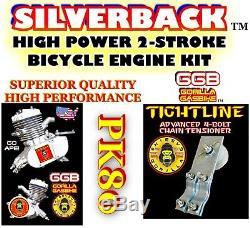 2-stroke 66cc/80c Motorized Bike Kit Engine Kit With 20 Low Rider Bicycle