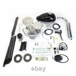 2-stroke 80cc Motor Gas Engine Kit For Motorized Bicycle Cycle Bike Silver