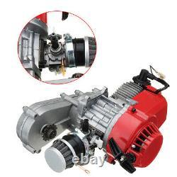 2STROKE Racing ENGINE POCKET 49CC MINI BIKE ATV SCOOTER MOTOR Kit+Air Filter US