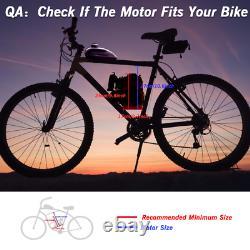 4-Stroke Gas Petrol Motorized Bicycle Bike Engine Motor Kit with44 Tooth Sprocket