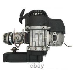 49CC 2Stroke Complete Engine Motor + Exhaust Mini Pocket Pit Bike ATV Scooter US