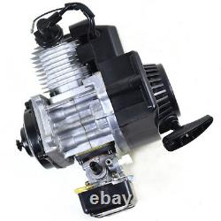 49CC 2Stroke Complete Engine Motor For Mini Pocket Quad pit Bike ATV Scooter US