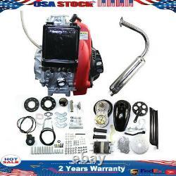 49CC 4-Stroke GAS Petrol Motorized Bike Bicycle Engine Motor Kit Scooter USA