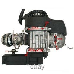 49cc Engine Motor 2 Stroke Quad Bike Pocket Bike Parts MOTORBIKE & Exhaust Pipe