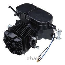 50cc Bike 2 Stroke Gas Engine Motor Kit Motorized Bicycle Black Full Set Black