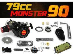 78.5cc Monster 90 Bike Engine Kit Complete 4-Stroke Kit