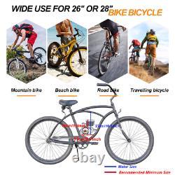 80cc 2-Stroke Bike Cycling Motorized Bicycle Engine Motor Kit Petrol Gas Silver