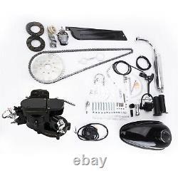 80cc 2-Stroke Engine Bike Motor Kit Black High Power Bicycle Components