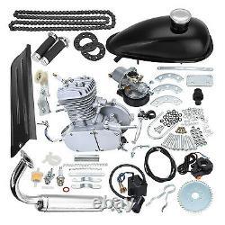 80cc 2-Stroke Engine Motor Kit for Motorized Bicycle Bike Gas Powered Black USA