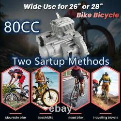 80cc Bicycle Bike Motor Motorized 2-Stroke Petrol Gas Electric Start Engine