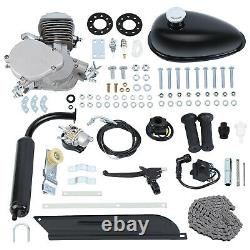 80cc Bicycle Motor Kit Bike Motorized 2 Stroke Petrol Gas Engine Full Set Black