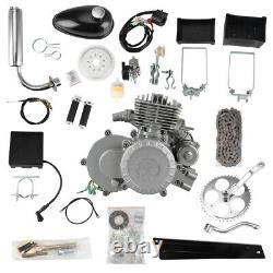 80cc Bike Bicycle Motorized 2 Stroke Gas Motor Engine Kit Electric Start Set