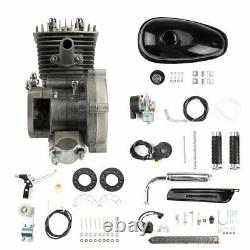 80cc Bike Bicycle Motorized 2 Stroke Petrol Gas DIY Motor Engine Kit Set Silver