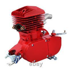 Bicycle 2 Stroke 80cc DIY Petrol Gas Motorized Engine Bike Motor Kit Red
