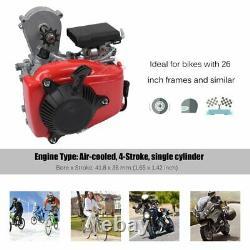 Bicycle Motorized 49CC 4-Stroke Gas Petrol Bike Engine Motor Kit Chain Scooter