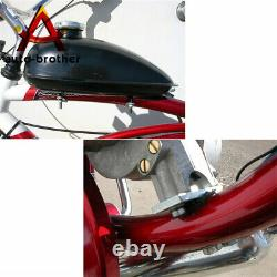 Black 2 Stroke Cycle Motor Kit Motorized Bike Petrol Gas Bicycle Engine 50cc