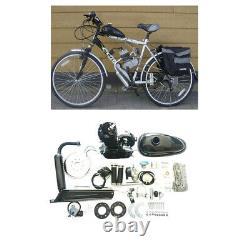Black 80cc 2-Stroke Bicycle Bike Cycle Motorized Gas Engine Motor Complete Kit