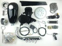 Black 80cc Bike Bicycle Motorized 2 Stroke Petrol Gas Motor Engine Kit Set