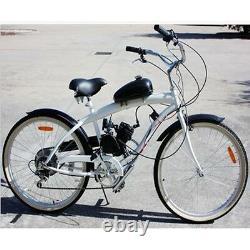 Black Universal Bike 2 Stroke Gas Engine Motor Kit DIY Motorized Bicycle 80cc
