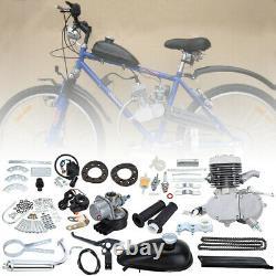 DIY Bicycle 2 Stroke 50cc Petrol Gas Motorized Engine Bike Motor Kit Sliver