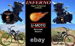 DIY POWER 2-STROKE 66CC/80CC MOTORIZED BIKE ENGINE KIT MOTOR KIT With 26 BIKE