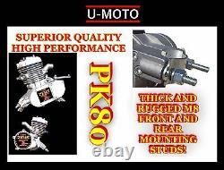 Diy 2-stroke 66cc/80cc Motorized Bike Engine Kit Performance Pk80