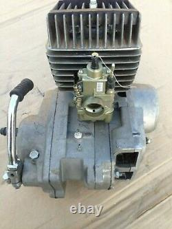 Engine Minsk motorcycle. 125 cc. Two stroke engine. For nut
