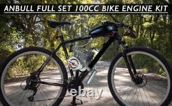 FULL SET 100CC Bike Engine Bicycle Motor Kit, Motorized 2 Stroke Petrol Gas Motor