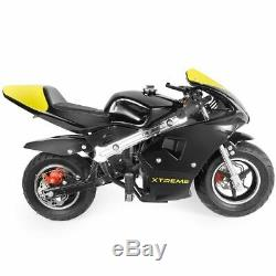 Gas Pocket Bike Motorcycle 40cc 4-Stroke Engine (YellowBlack)