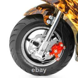 Gas Pocket Super Mini Bike Motorcycle Kids 40cc 4-Stroke Engine Yellow Flame