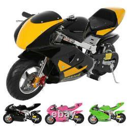 Mini Gas Power Pocket Bike Motorcycle 49CC 4-Stroke Engine Ride on Toys. 50 km/h