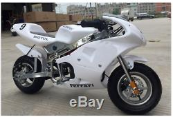 Mini Gas Power Pocket Bikes Motorcycles 49cc 4-Strokes Engine For Kids And Teens