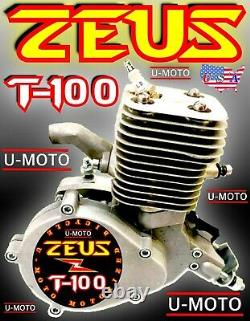 NEW POWER 2-STROKE 80cc/100cc MOTORIZED BIKE ENGINE ONLY FOR KITS MOPED SCOOTER