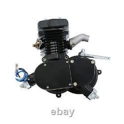 New 2 Stroke 50cc Bicycle Petrol Gas Motorized Engine Bike Motor Kit Black