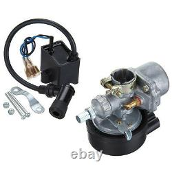 New Silver 80cc 2-Stroke Motor Engine Kit Gas For Motorized Bicycle Bike USA