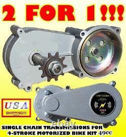 PARTS FOR 49cc engine motorized Bike KIT 4-stroke SINGLE CHAIN TRANSMISSION X 2