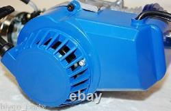Performance Racing Blue 49cc 2 stroke Engine Motor Mini Pocket Quad Dirt Bike