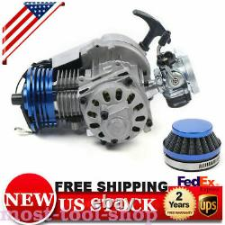 Racing 47cc 49CC 2-STROKE ENGINE MOTOR POCKET MINI BIKE SCOOTER ATV Quad Kart