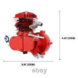 Red 80cc Motorized Bike Bicycle Cycle Petrol Gas Engine Motor Kit 2 Stroke DIY